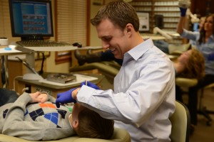 Dr. Defay working on orthodontic patient